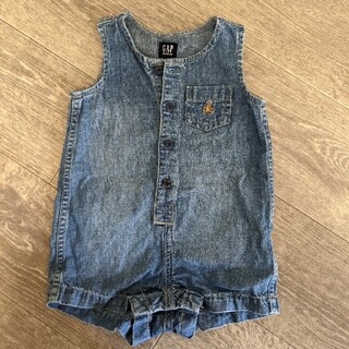 babyGAP - babygapデニムサロペットオールインワンノースリーブ男の子女の子子供服ベビー