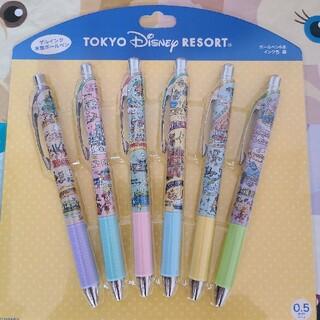 ディズニー(Disney)のディズニー ボールペン イラスト レトロ キャラクター パーク乗り物柄(ペン/マーカー)