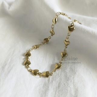シールームリン(SeaRoomlynn)の【再入荷】heart gold bracelet *(ブレスレット/バングル)