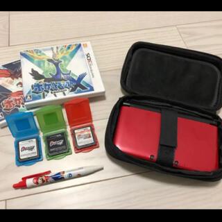 ニンテンドー3DS(ニンテンドー3DS)のニンテンドー3DS LL レッド×ブラック ソフト6本まとめ売り(家庭用ゲーム機本体)