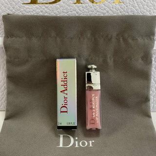 Dior - ディオール♡アディクトリップマキシマイザー001  ピンク、巾着付き