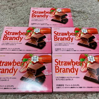 チョコレート(chocolate)のロッテ ストロベリーブランデー5個セット(菓子/デザート)