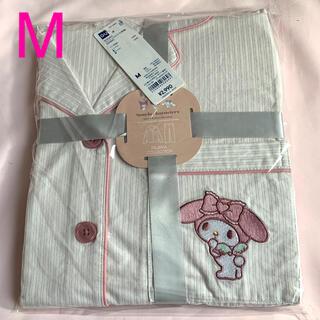 GU - GU サンリオ シナモン シナモンロール パジャマ(長袖) コットン100%