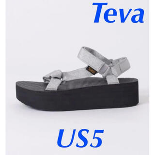 FRAMeWORK - TEVA テバ サンダル シルバー 22cm 22.5cm US5 厚底