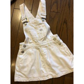 エムピーエス(MPS)の【110サイズ】夏☆女の子 白 ジャンパースカート(ワンピース)