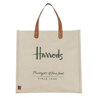 ハロッズ(Harrods)の◇ハロッズ◇   ジュート トートバッグ レザーハンドル(トートバッグ)