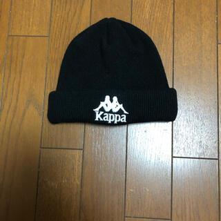 ジーユー(GU)のkappa×GUコラボニット帽 黒(ニット帽/ビーニー)