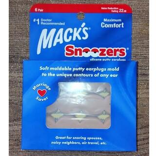 マックスピロー 耳栓 MACK'S Snoozers 6Pair