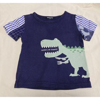 クレードスコープ(kladskap)のみるる様専用【kladskap】袖 異素材切替 恐竜Tシャツ🦖🍖(Tシャツ/カットソー)