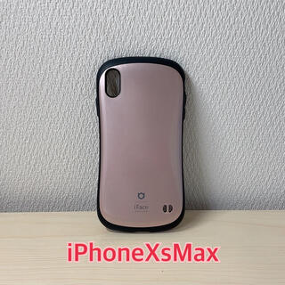 iPhonexsmaxケース iFace ローズゴールド ピンク