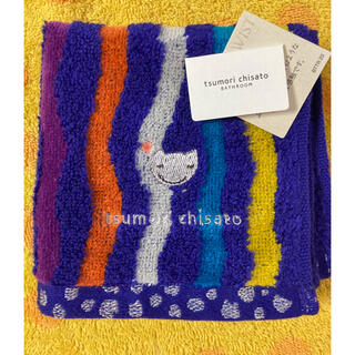 ツモリチサト(TSUMORI CHISATO)のツモリチサト タオルハンカチ 猫刺繍(ハンカチ)