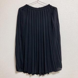ユニクロ(UNIQLO)のプリーツスカート ロングスカート ブラック ユニクロ(ひざ丈スカート)