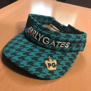 PEARLY GATES - パーリーゲイツ サンバイザー バイザー 美品 グリーン 緑 千鳥格子 S