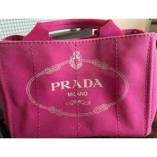 プラダ(PRADA)のプラダピンクカナパショルダーバッグ(ショルダーバッグ)
