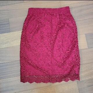 ユニクロ(UNIQLO)のユニクロUNIQLO 花柄レーススカート(ひざ丈スカート)