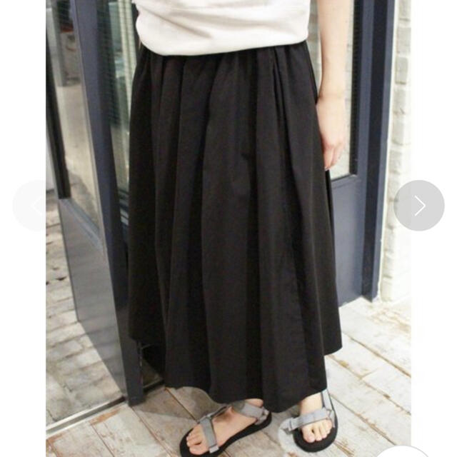 IENA SLOBE(イエナスローブ)のIENA SLOBE タイプライタータックギャザーミモレスカート レディースのスカート(ロングスカート)の商品写真