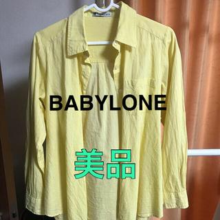 バビロン(BABYLONE)のBABYLONE シャツ イエロー Mサイズ バビロン(シャツ/ブラウス(長袖/七分))