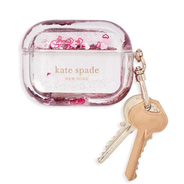 kate spade new york(ケイトスペードニューヨーク)のkate spade AirPods Pro ケース グリッター ピンク スマホ/家電/カメラのスマホアクセサリー(モバイルケース/カバー)の商品写真