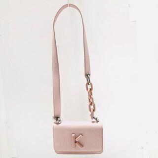 ケンゾー(KENZO)のケンゾー美品  - ライトピンク レザー(ショルダーバッグ)