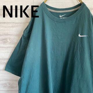 NIKE - レアカラー ナイキ NIKE Tシャツ 刺繍ロゴ メンズ4XL アースカラー古着