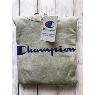 チャンピオン(Champion)のチャンピオン ロゴプルオーバー スウェット パーカー グレー メンズM(パーカー)