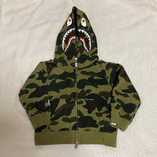 A BATHING APE - BAPE KIDS シャークパーカー