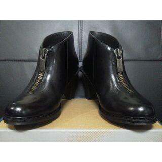 ドクターマーチン(Dr.Martens)のDr.Martens JOLENE UK6 黒 厚底 フロントジップ ブーティ(ブーツ)