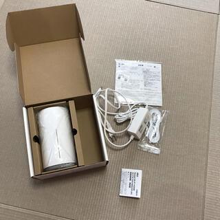 ファーウェイ(HUAWEI)のau Speed Wi-Fi HOME ホワイト L02 HWS33SWA(PC周辺機器)