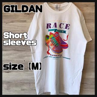 GILDAN - 【GILDAN】カラフルプリント 古着 ホワイト Mサイズ