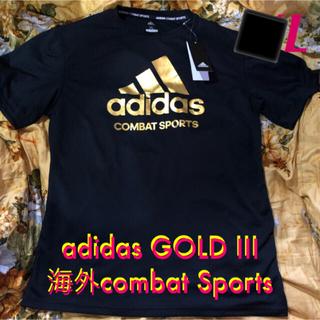 adidasの速乾性素材GOLD LOGO combatsport T XL