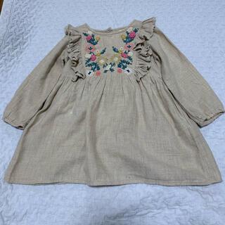 ZARA baby 花刺繍 フリル ワンピース サイズ92   90