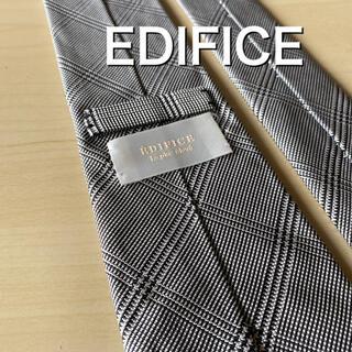 エディフィス(EDIFICE)の【美品】EDIFICE グレンチェック ネクタイ(ネクタイ)