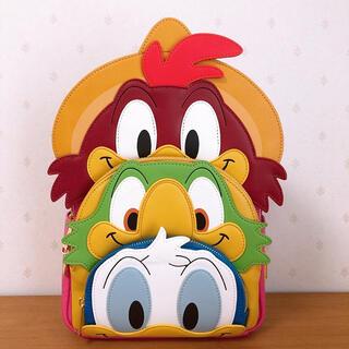 ディズニー(Disney)のラウンジフライ ディズニー 三人の騎士 リュック ドナルド ホセ パンチート(リュック/バックパック)