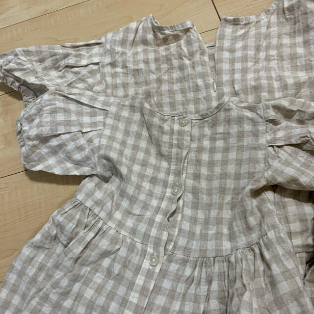 futafuta(フタフタ)のAosta 親子お揃い チェックワンピース キッズ/ベビー/マタニティのベビー服(~85cm)(ワンピース)の商品写真