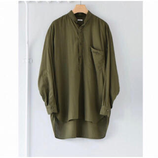 COMOLI - COMOLI 21ss ベタシャンプルオーバーシャツ olive サイズ1
