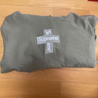 Supreme - ラスト値下げCross Box Logo Hooded Sweatshirt