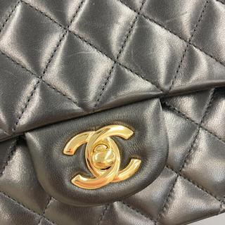 CHANEL - 新品同様CHANELマトラッセ25'黒ゴールド2重蓋2重チェーンショルダーバッグ
