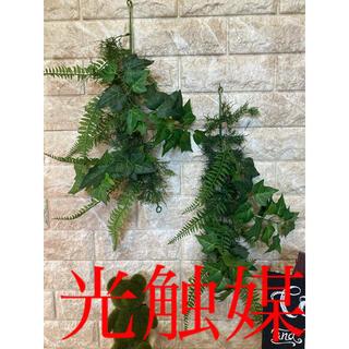 光触媒 人工観葉植物 ウォールグリーン 造花 インテリア アイビースワッグ