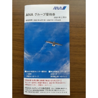 エーエヌエー(ゼンニッポンクウユ)(ANA(全日本空輸))のANA グループ優待券 2021年上期分(ショッピング)