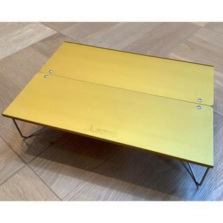 シンフジパートナー(新富士バーナー)のSOTO フィールドホッパー イエロー 一回使用 美品 箱なし(テーブル/チェア)