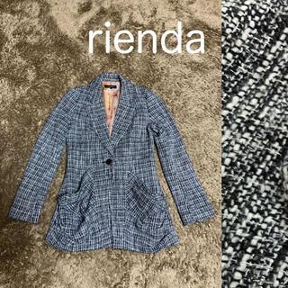 リエンダ(rienda)のrienda  ツイード テーラードジャケット(テーラードジャケット)