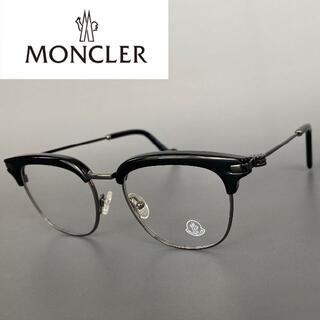 モンクレール(MONCLER)のモンクレール ブラック サーモントブロー ハーフ セミリム メガネ ボストン(サングラス/メガネ)