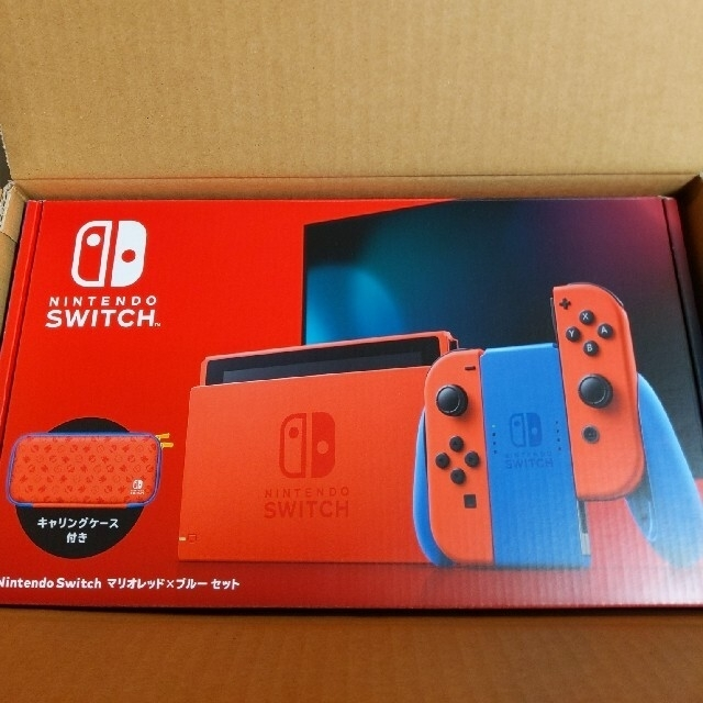 Nintendo Switch(ニンテンドースイッチ)のNintendo Switch マリオ レッド×ブルー セット エンタメ/ホビーのゲームソフト/ゲーム機本体(家庭用ゲーム機本体)の商品写真