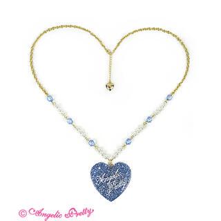 Angelic Pretty - Angelic Pretty Deco Heartネックレス サックス
