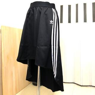 アディダス(adidas)のAdidas Original 後ろ下がり スカート 3本線(ひざ丈スカート)