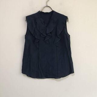 ジルスチュアート(JILLSTUART)の9430 JILL STUART ノースリーブブラウス 紺 インナーキャミ付き(Tシャツ(半袖/袖なし))