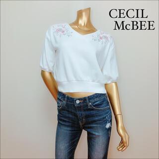 CECIL McBEE - CECIL McBEE 刺繍 ミニ スウェット トレーナー*ダズリン ミーア