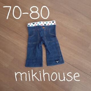 ダブルビー(DOUBLE.B)の【70-80】ミキハウス ダブルB デニム風 パンツ(パンツ)
