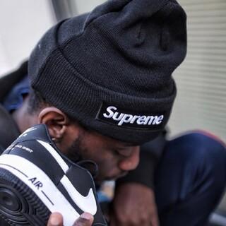 Supreme - 【新品】supreme ボックスロゴ ニット帽 ブラック ビーニー cap
