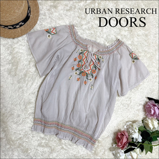 DOORS / URBAN RESEARCH - URBAN RESEARCH DOORS 刺繍 スモック ブラウス*BEAMS